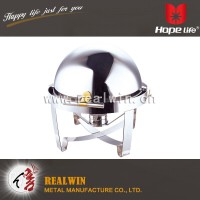 9L ROUND DELUXE ROLL TOP CHAFING DISH