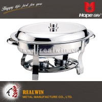5.5L Oval S/S Chafing Dish with straight legs